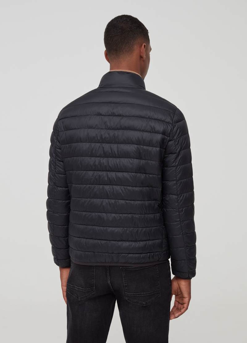Quilted jacket with high collar image number null