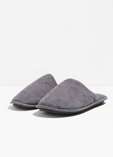 Knitted canvas slippers