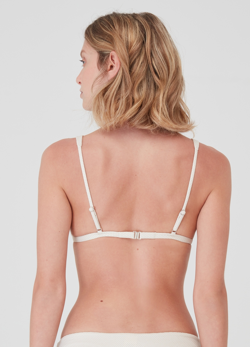 Quilted triangle bikini top image number null