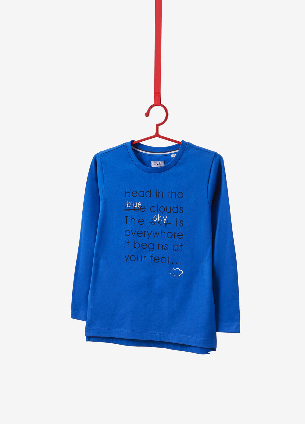 100% organic cotton T-shirt with lettering