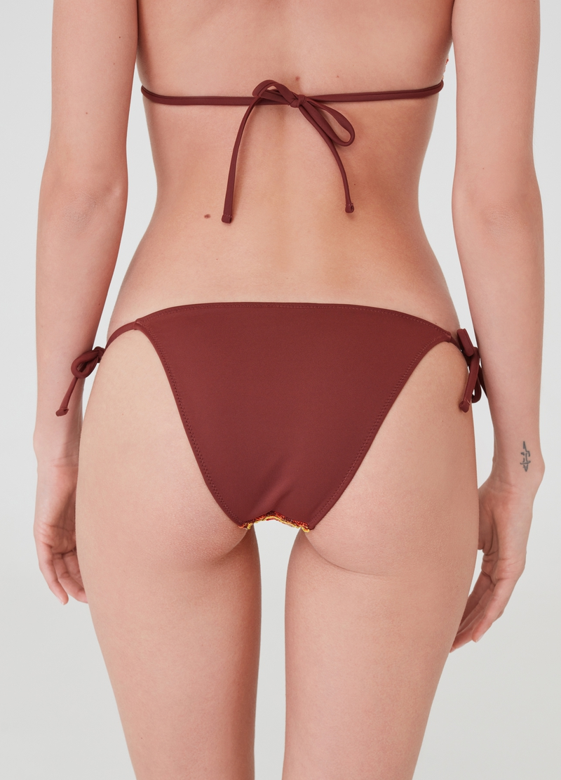 Bikini brief with slim laces image number null