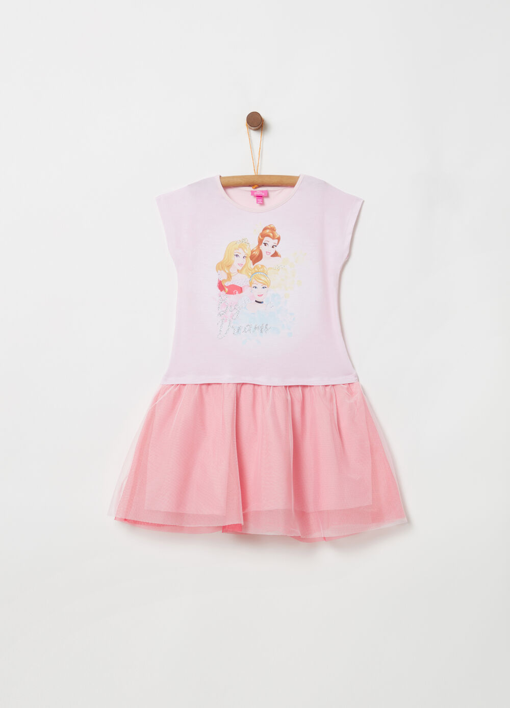 Outfit with tulle skirt and Disney print