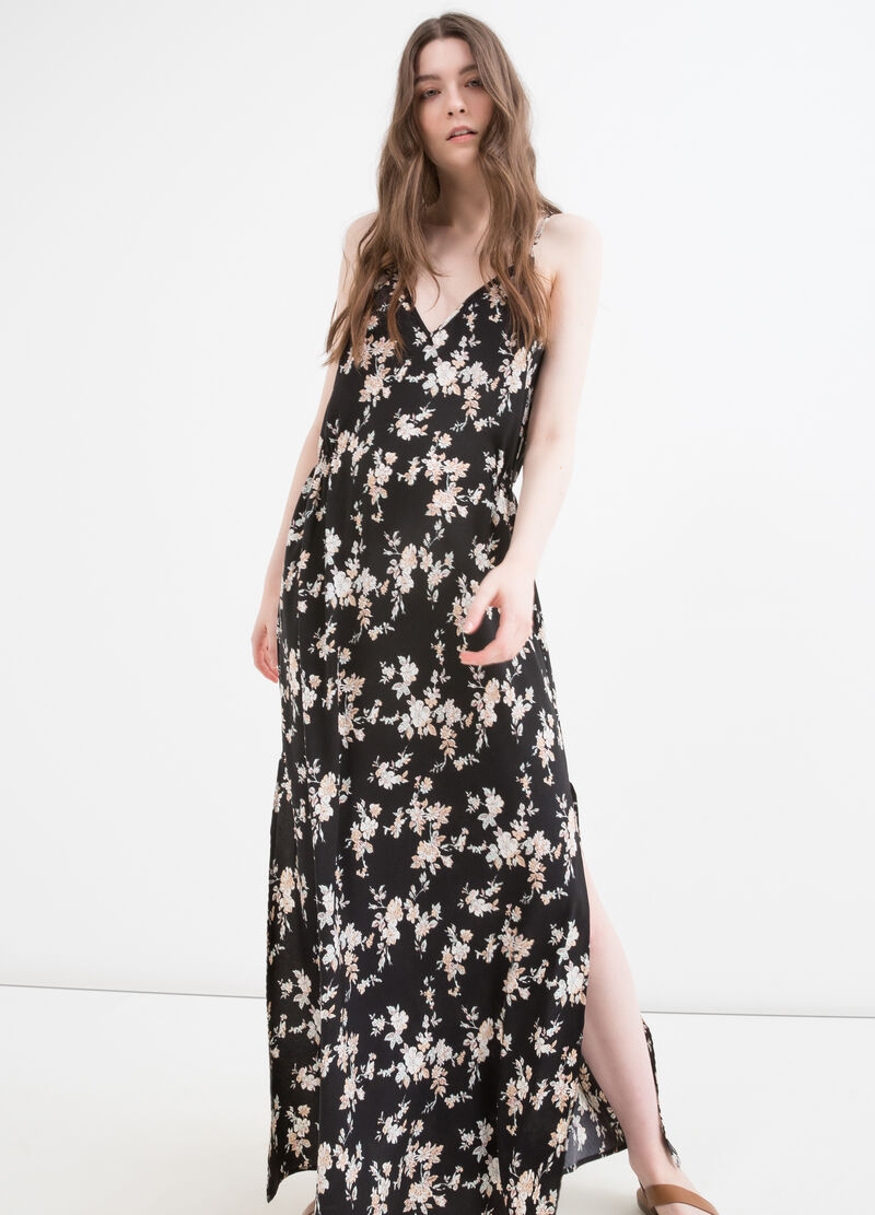 100% viscose long dress