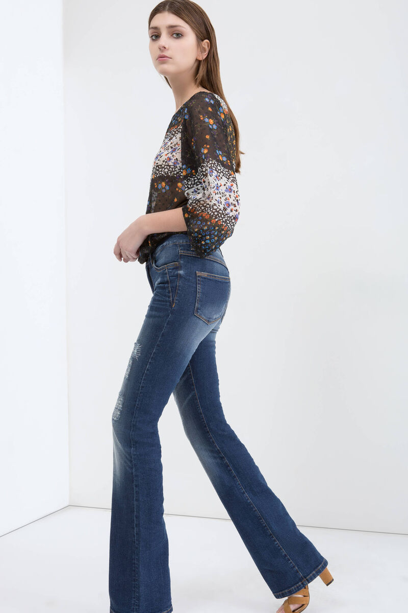 Jeans flare fit stretch