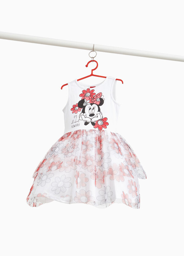 Minnie Mouse dress with floral skirt