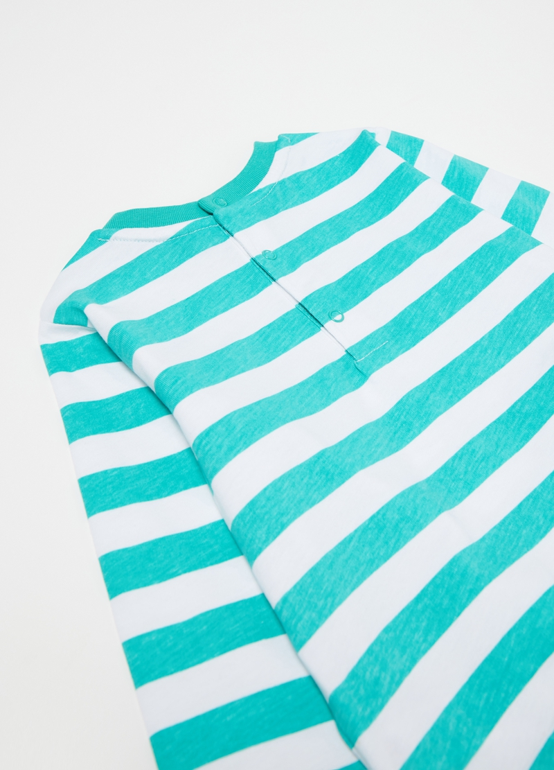 Pyjamas with striped pattern and mouse print image number null