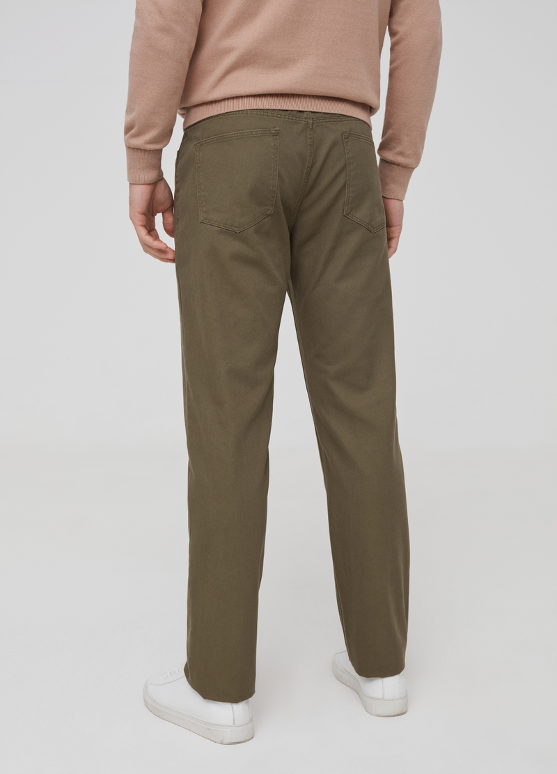 Regular-fit trousers in 100% cotton image number null