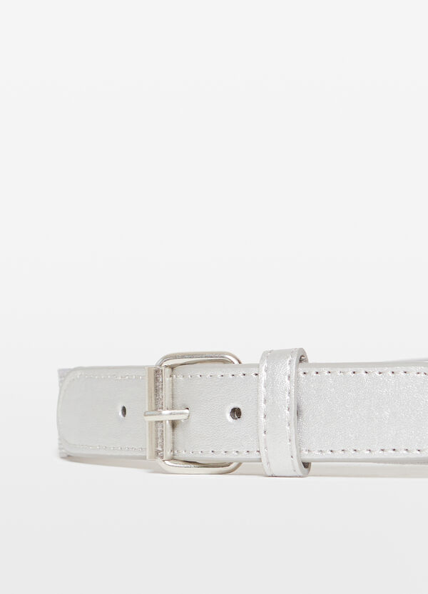 Glitter belt with lurex