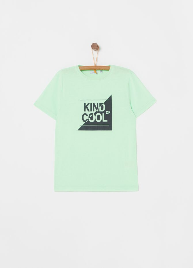T-shirt con stampa lettering