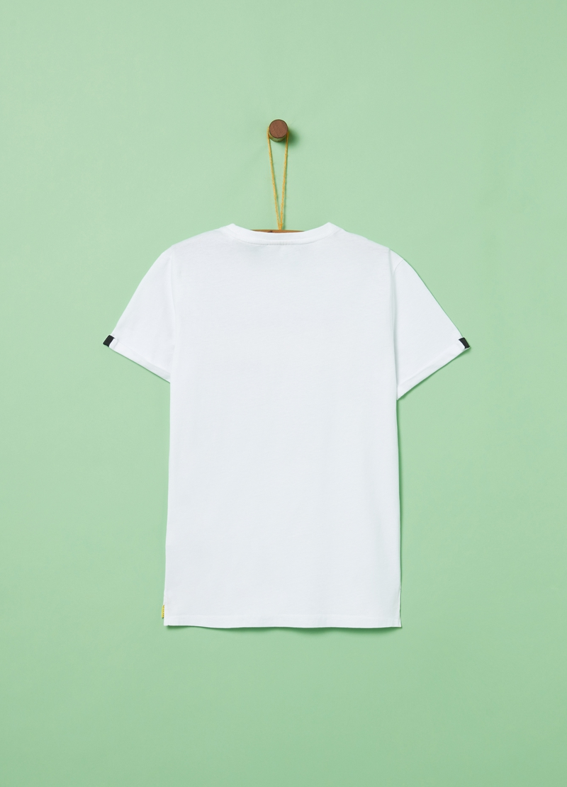 Cotton T-shirt with pocket and print image number null