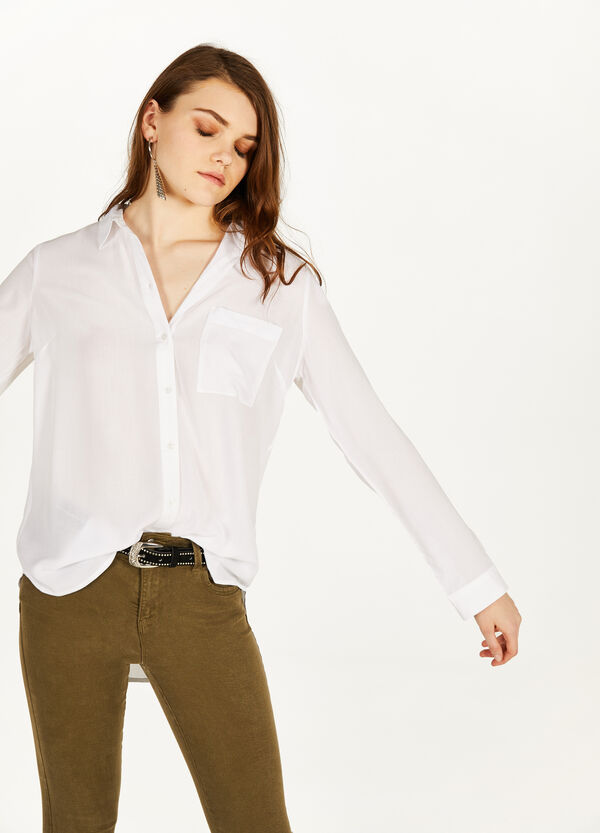 100% viscose shirt with pocket