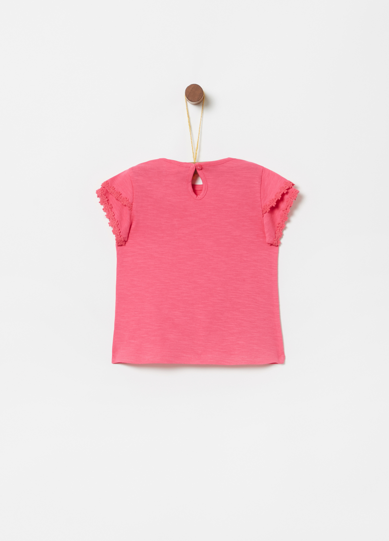 T-shirt with sleeves, pocket and trim image number null