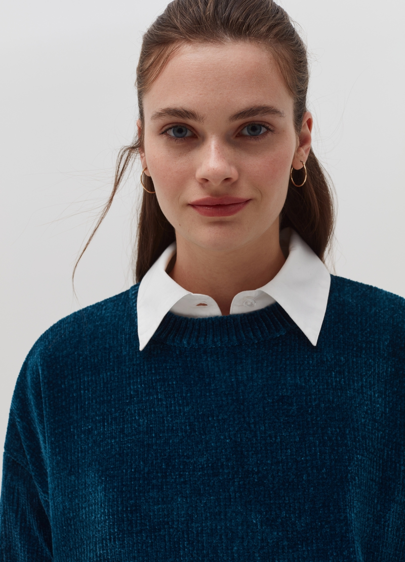 Pullover in ciniglia oversize image number null