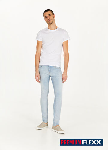 Jeans slim fit tinta unita stretch