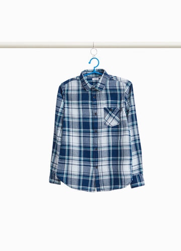 Tartan shirt in 100% cotton