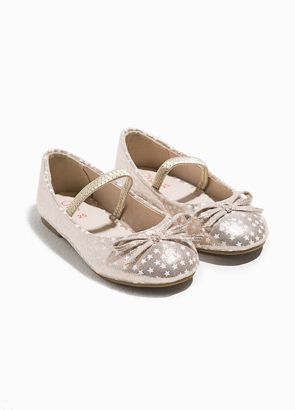 Ballerina flats in star pattern fabric | OVS