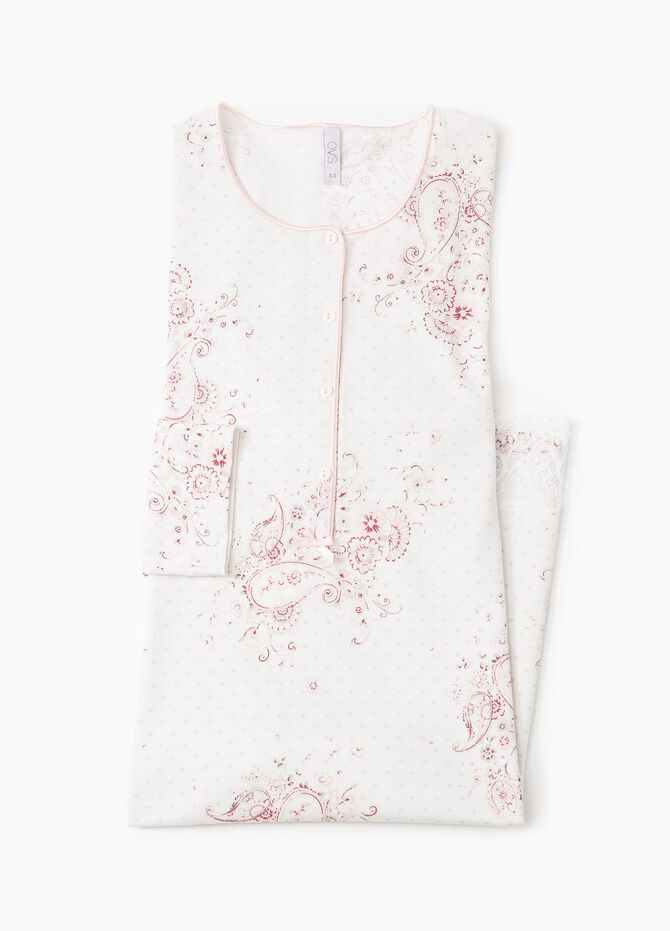 Floral nightshirt with lace