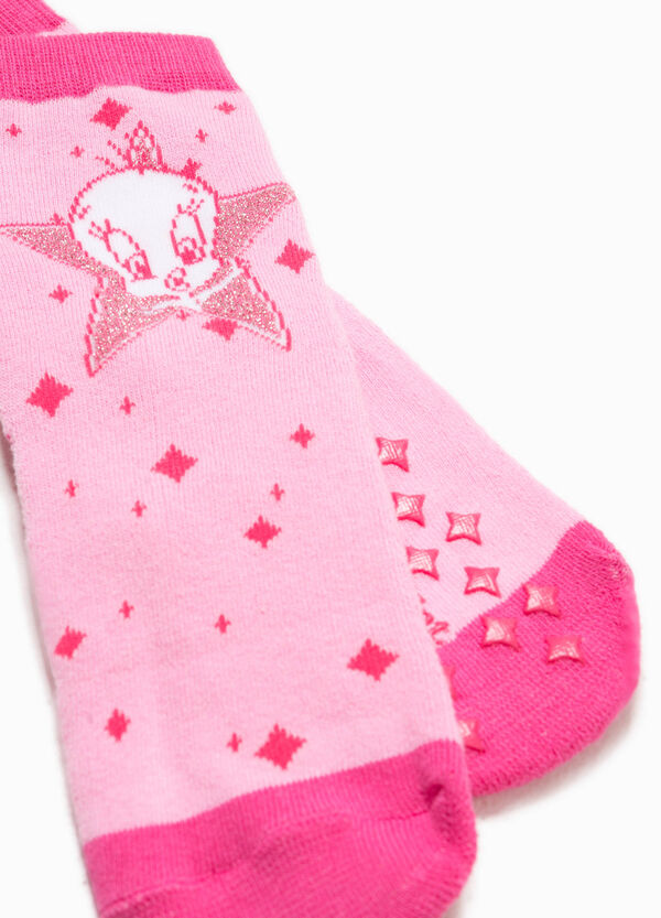 Tweetie Pie patterned embroidered slipper socks | OVS