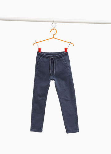 Jogger-fit jeans with drawstring