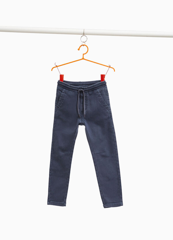 Jeans jogger fit con coulisse
