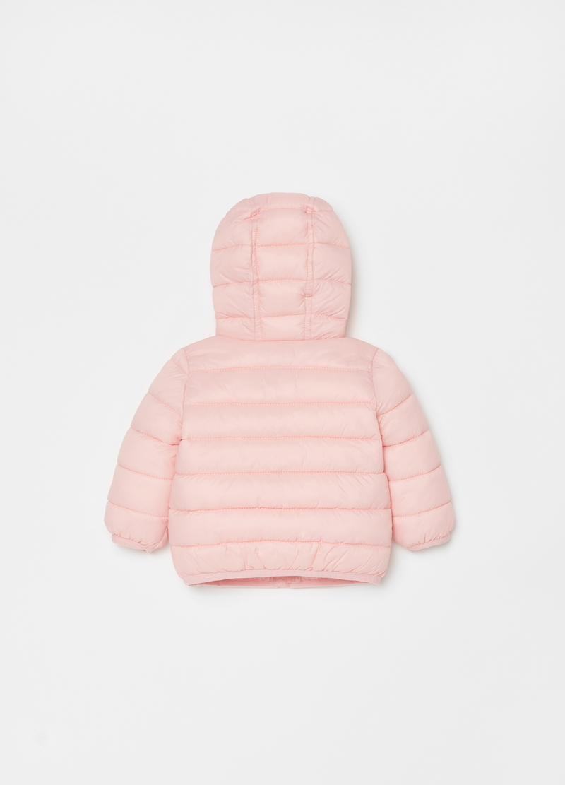 Solid colour quilted ultralight down jacket image number null