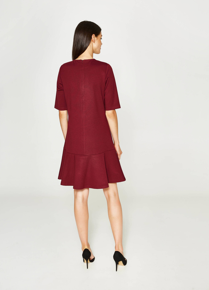 Solid colour stretch viscose dress image number null
