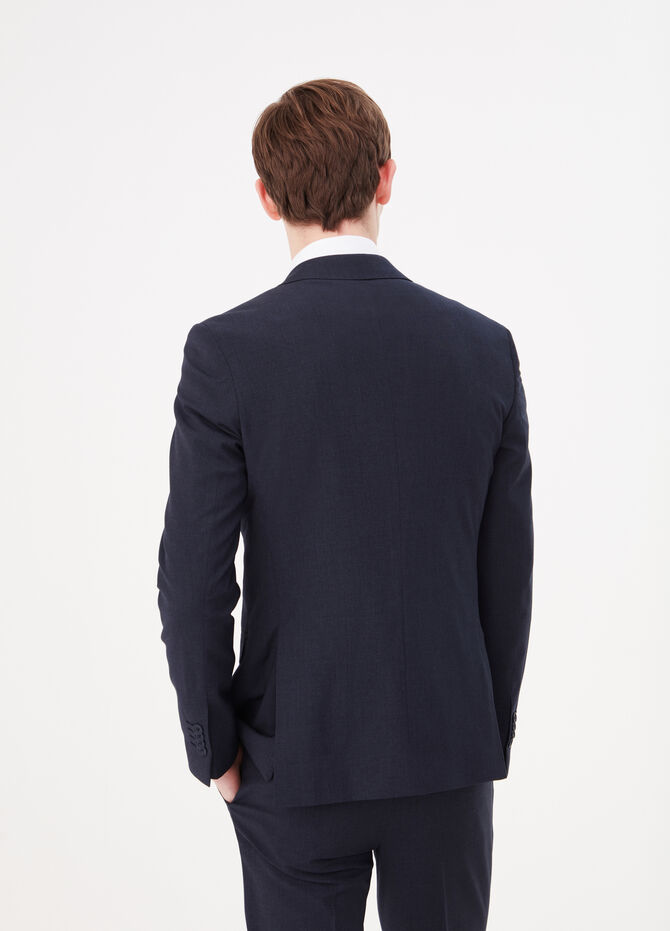 Slim-fit blazer in stretch viscose blend