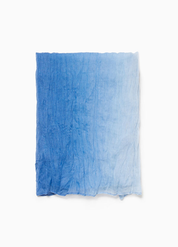 Creased effect faded woven scarf