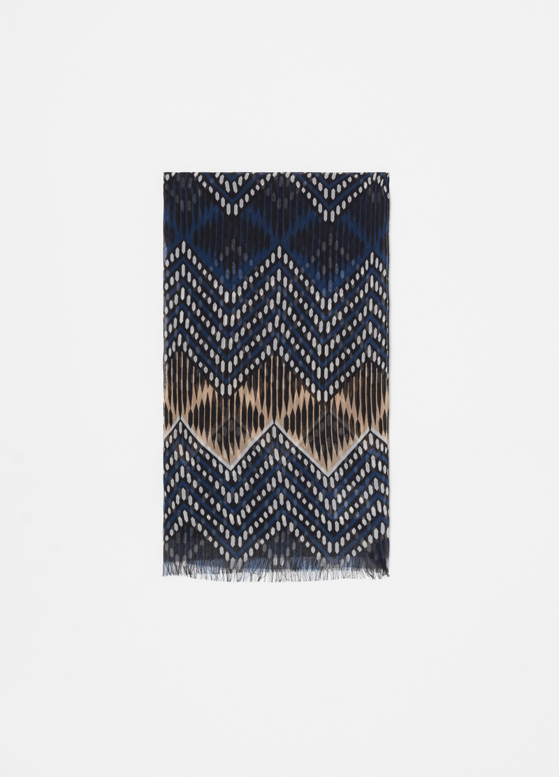 Scarf with ethnic motif pattern image number null