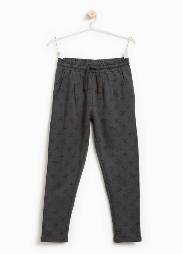 Cotton joggers with skulls print | OVS