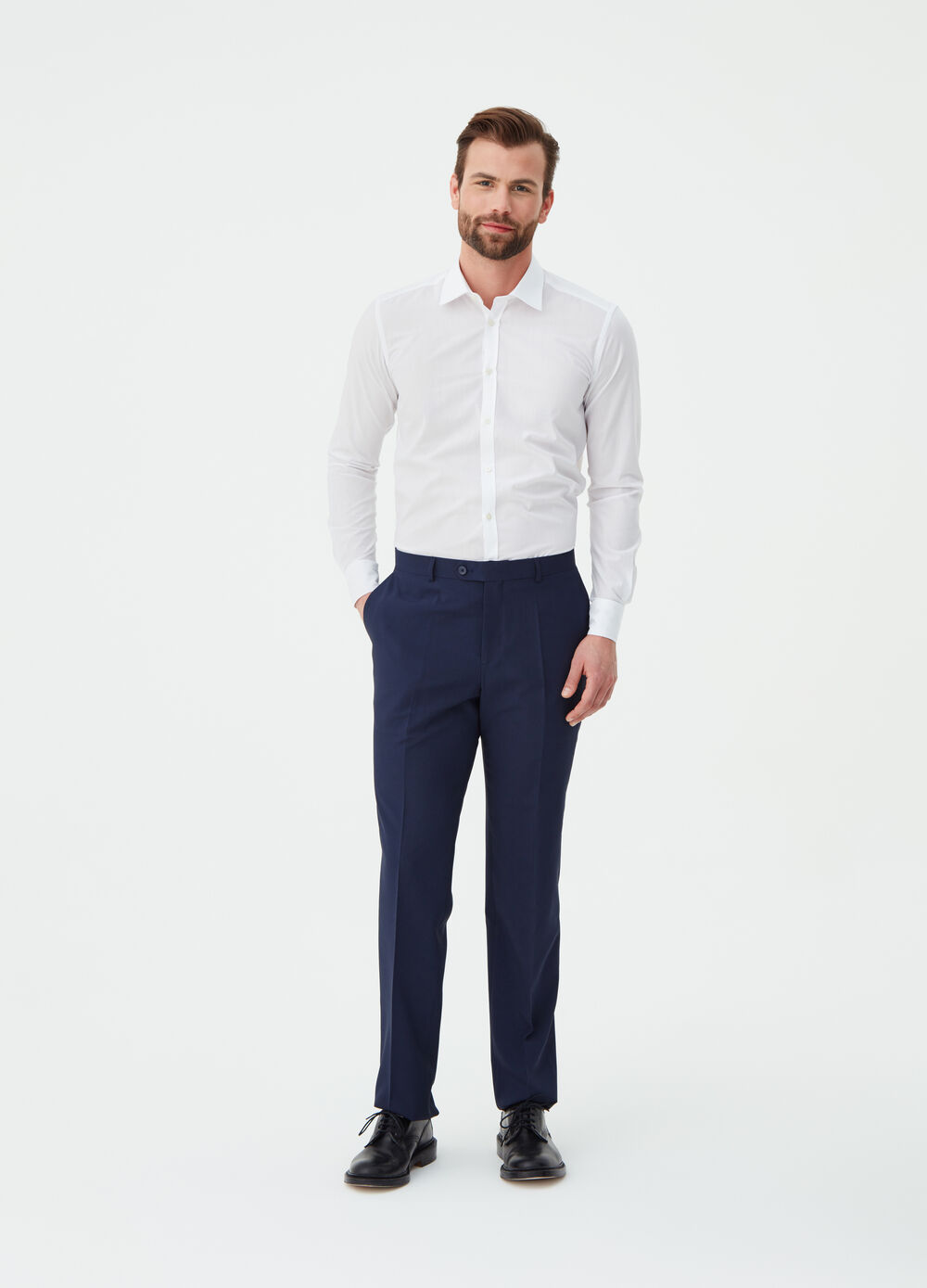 Solid colour formal trousers