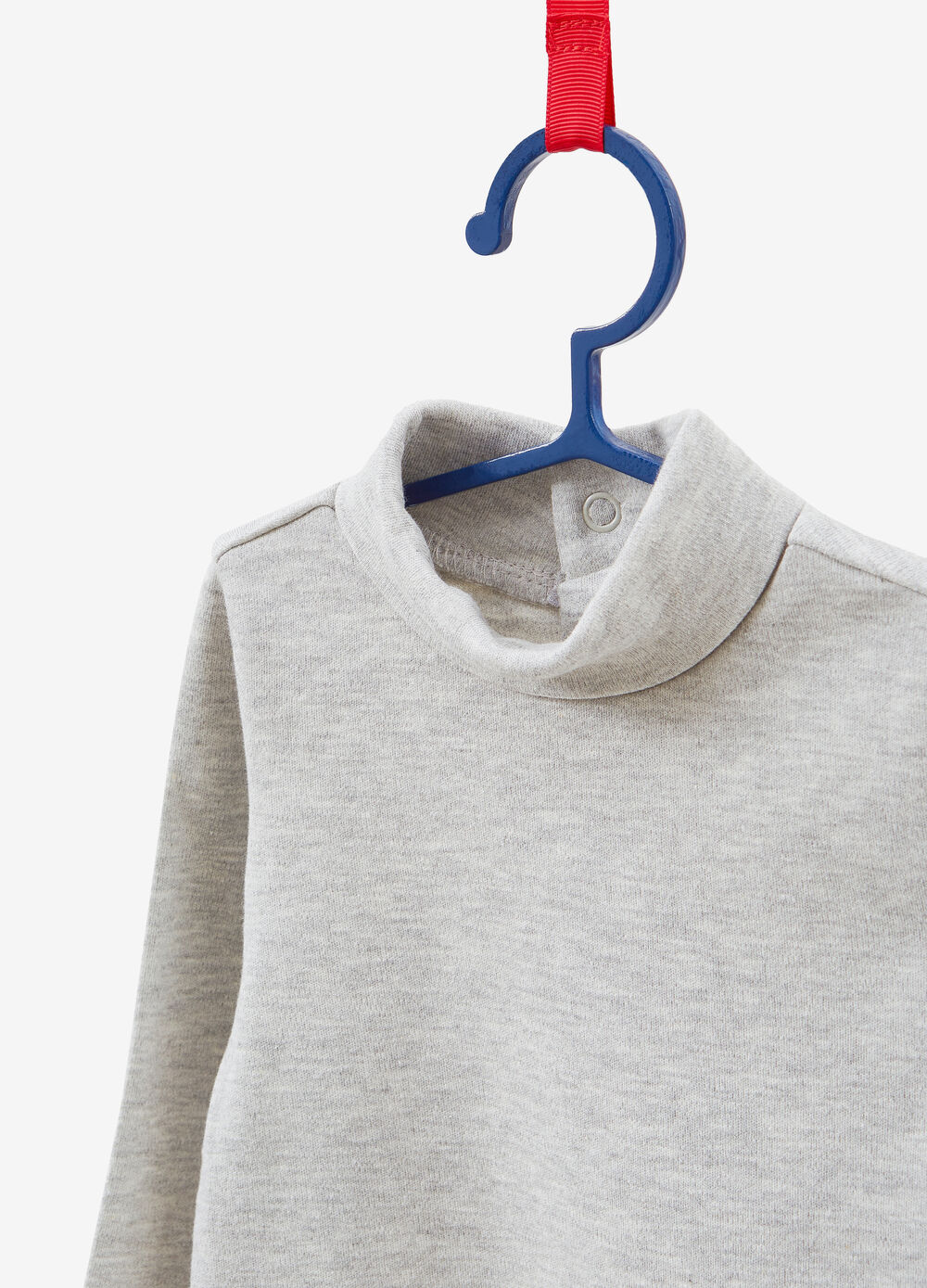 100% cotton turtleneck with glitter hearts