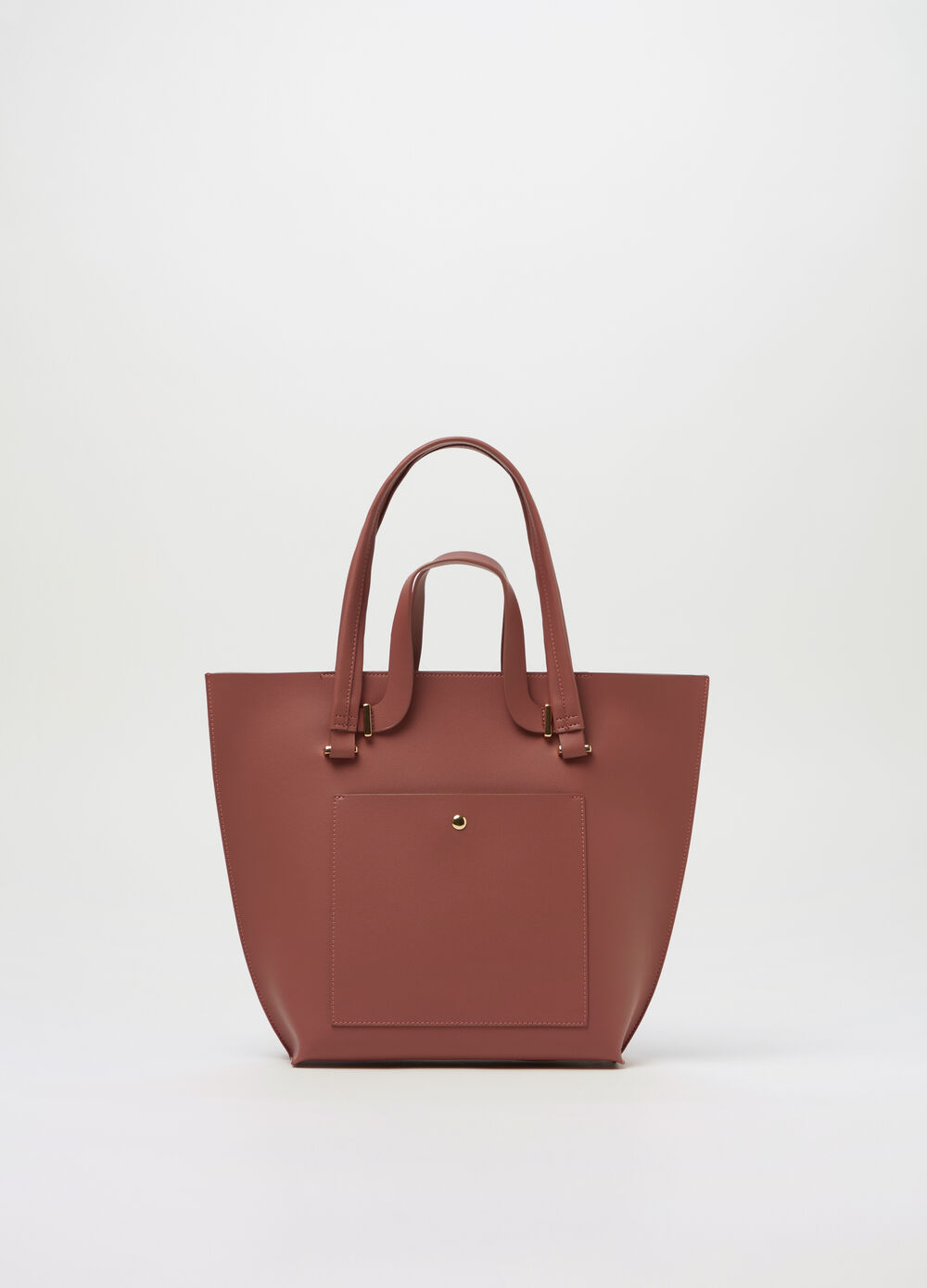 Tote bag with double handle and zip fastening