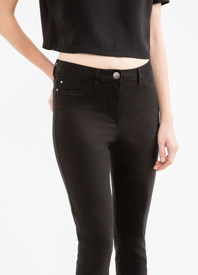 Stretch trousers with double faux pocket