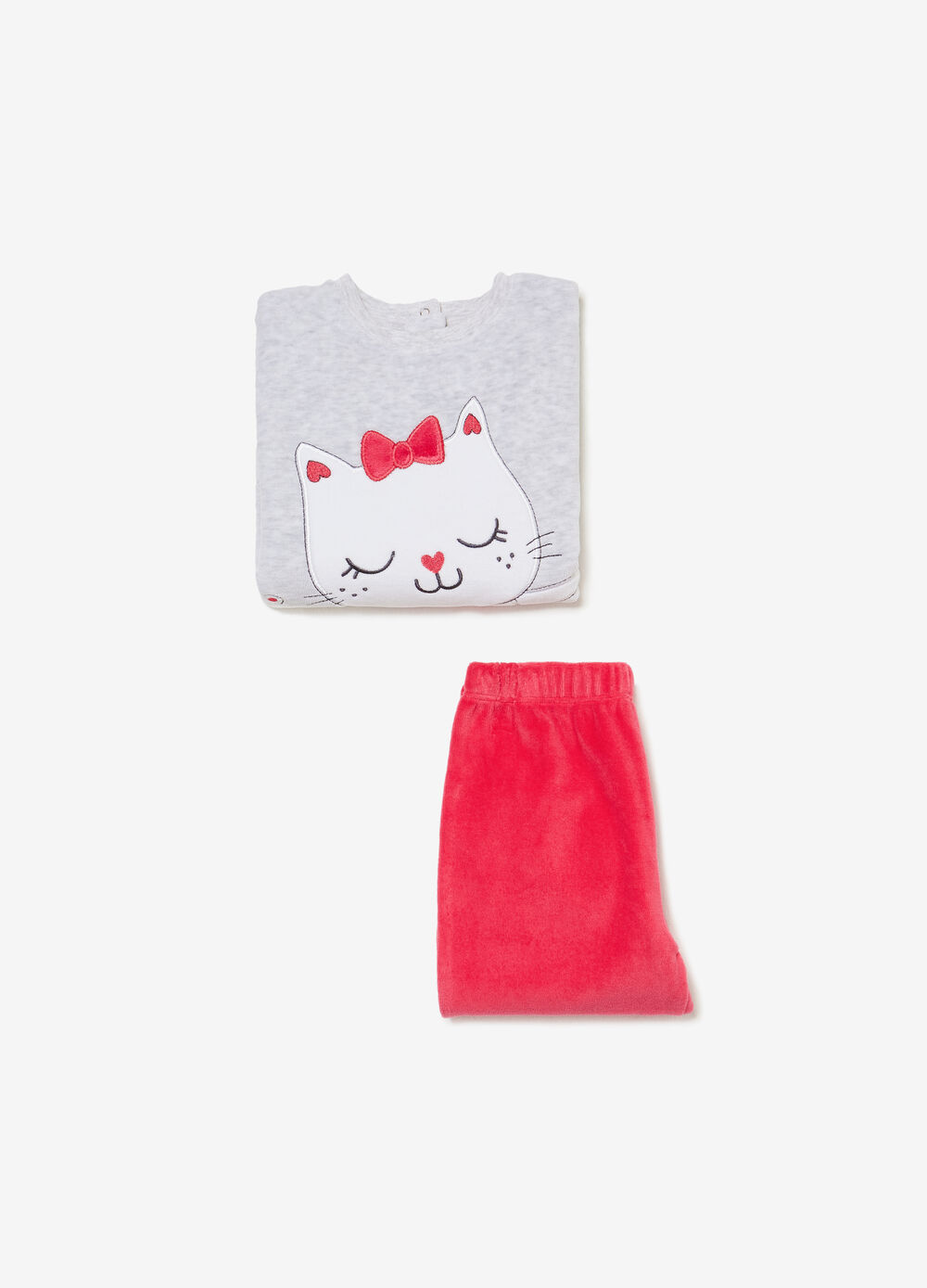 Cat sleepsuit in BCI cotton