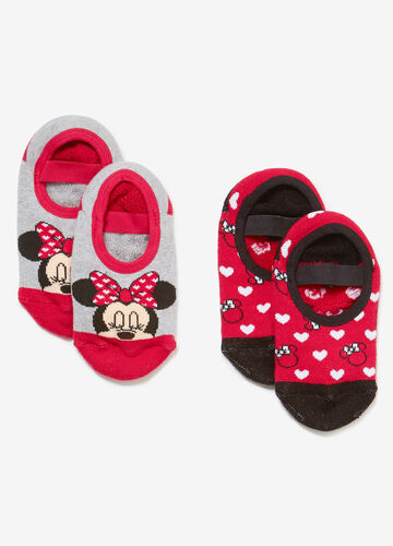 Two-pair pack short Minnie Mouse socks