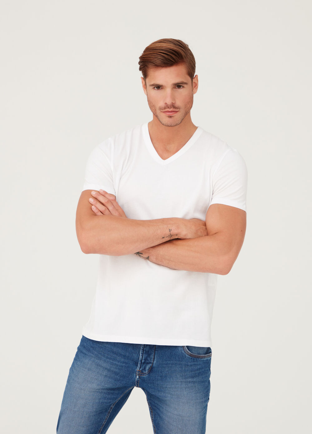 Biocotton premium T-shirt with V-neck
