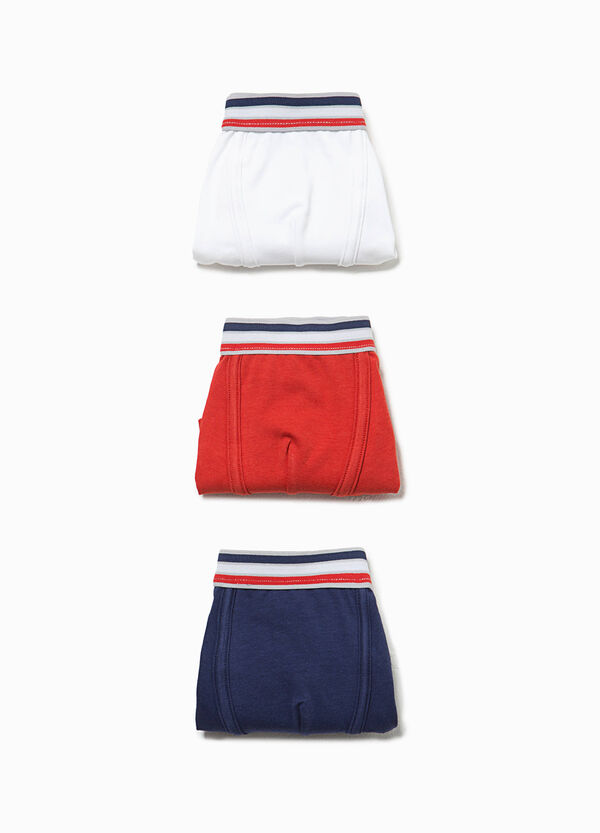Three-pack cotton boxers with striped waist band | OVS
