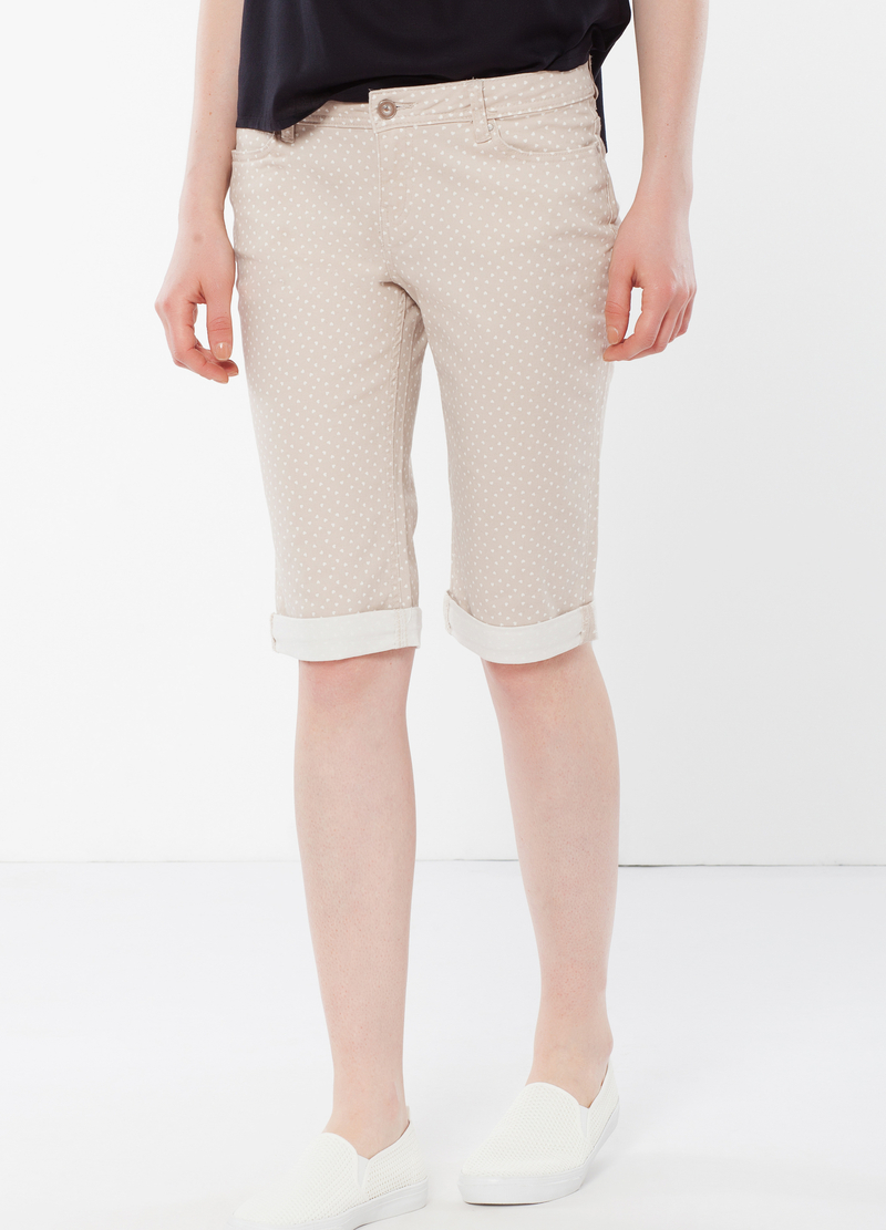 5-pocket stretch Bermuda shorts image number null