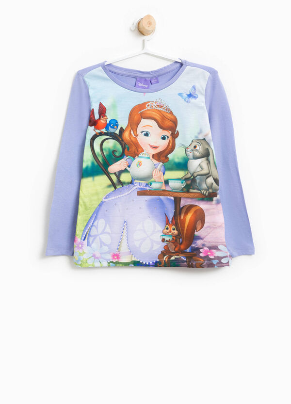 T-shirt with maxi Sofia the First print | OVS