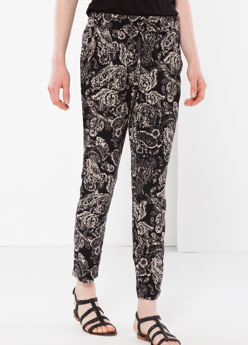 Paisley print trousers image number null