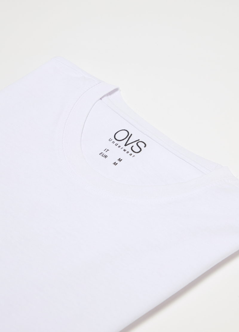 Crew neck T-shirt in organic cotton image number null