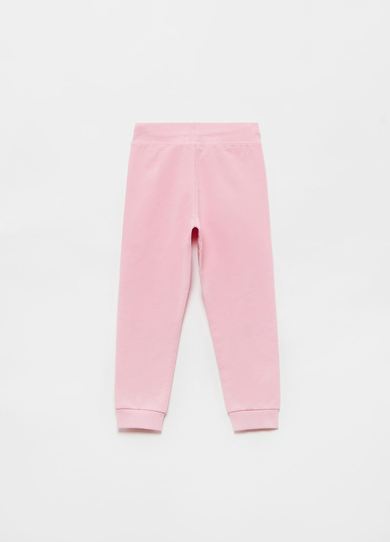 Joggers in cotone bio stretch stelle glitter image number null