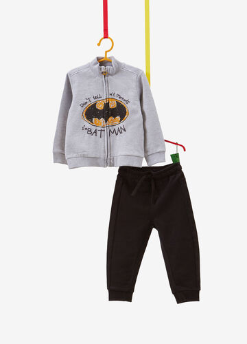 Tracksuit in cotton blend with Batman print