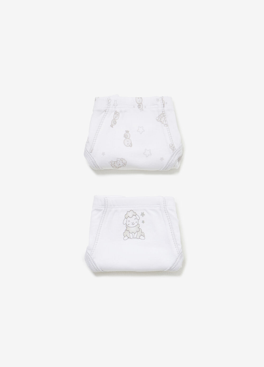 Two-pack animals and solid colour cotton briefs