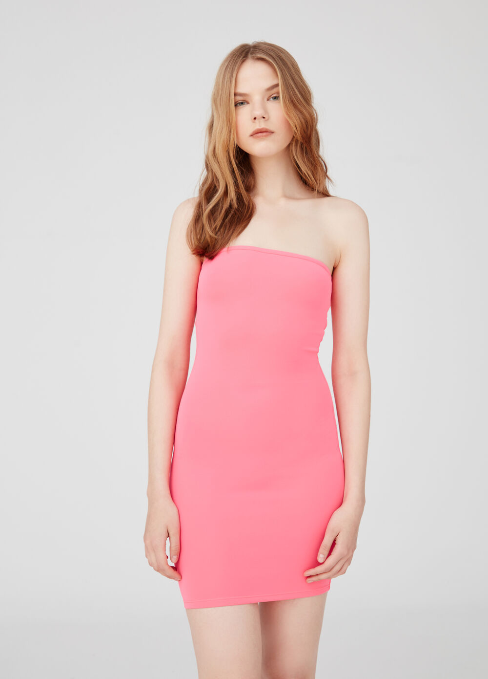 Stretch bodycon dress with tie back