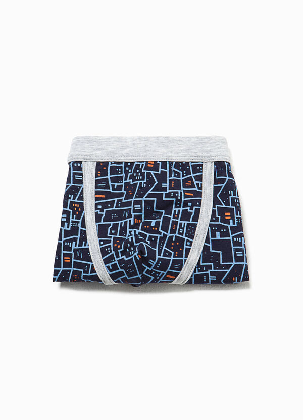 Patterned boxers in stretch cotton | OVS