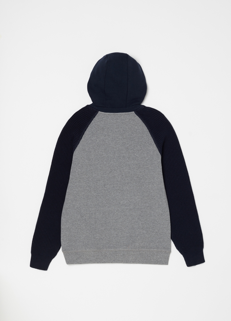Sweatshirt with knitted sleeves image number null