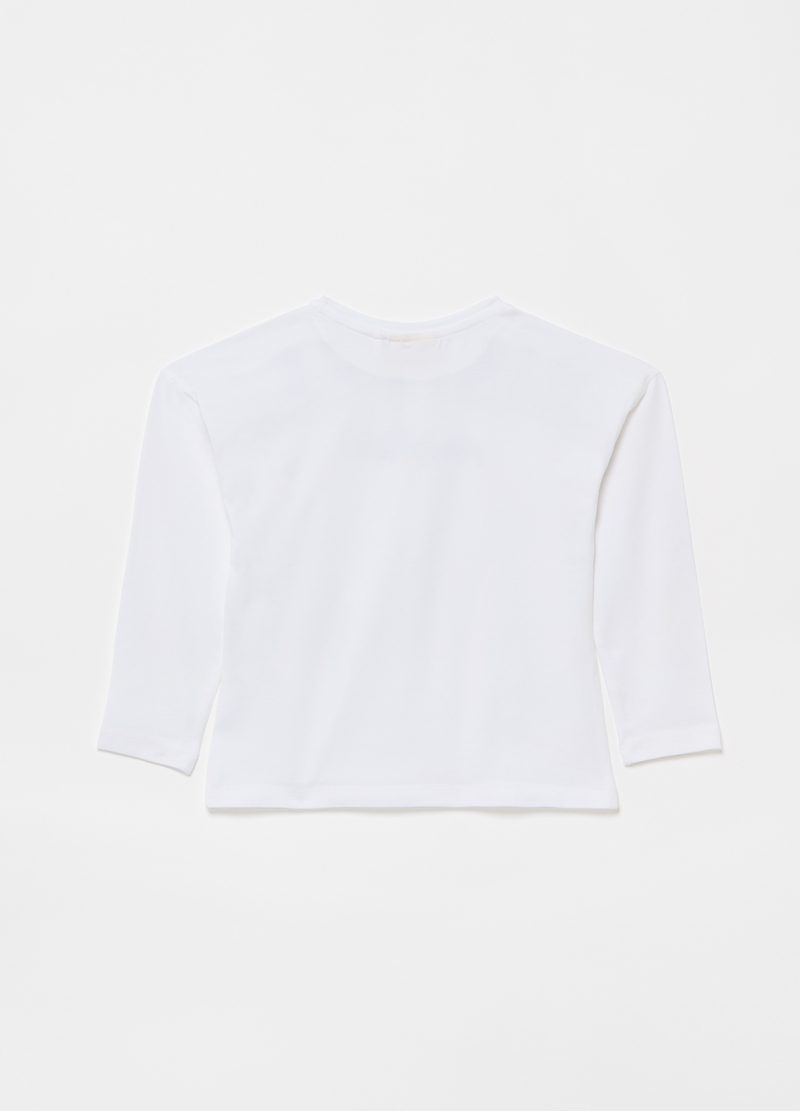 T-shirt in cotone stretch stampa lettering image number null