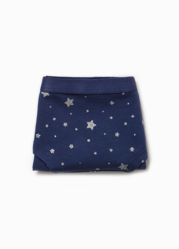 Organic cotton French knickers with stars
